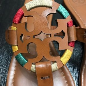 Tory Burch Shoes - {Tory Burch} Brown Embroidered Miller Sandals